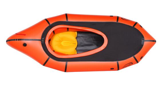 nortik TrekRaft Schlauchboot mit Verdeck orange/schwarz